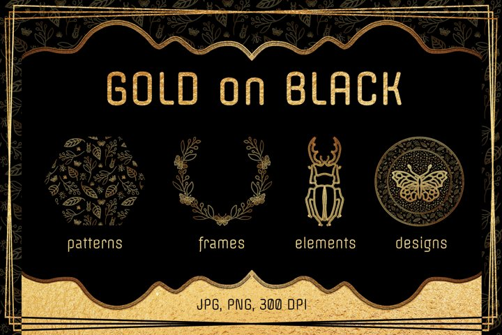 Gold on Black, Patterns & Designs