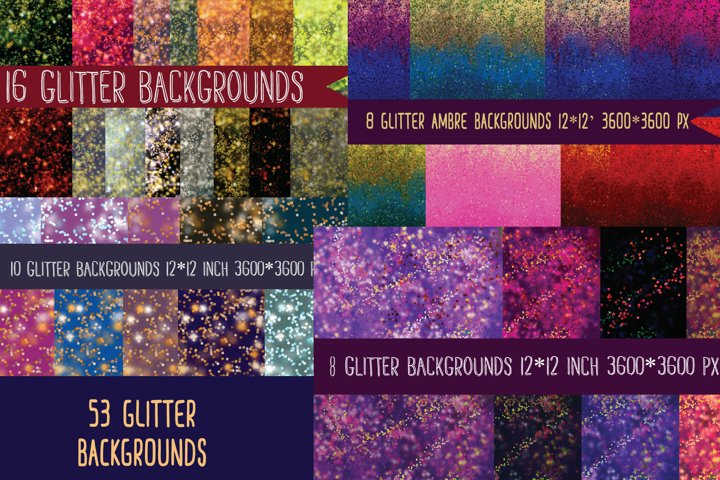 glitter backgrounds MEGA bundle