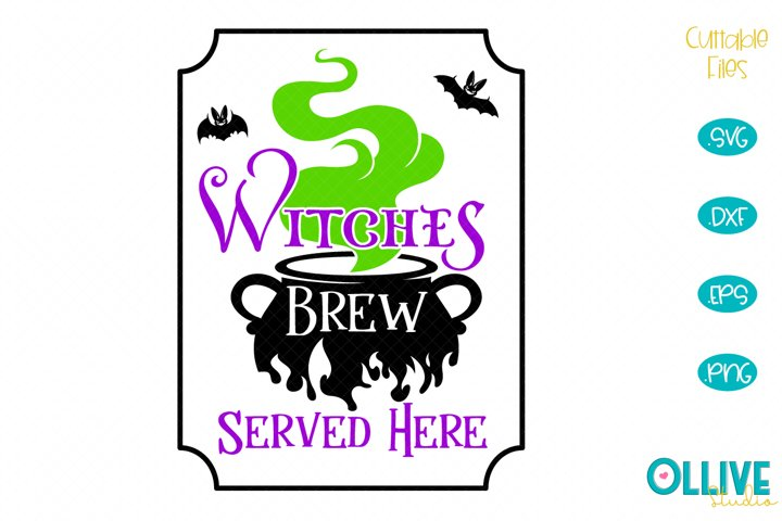 Witches Brew Halloween Sign SVG