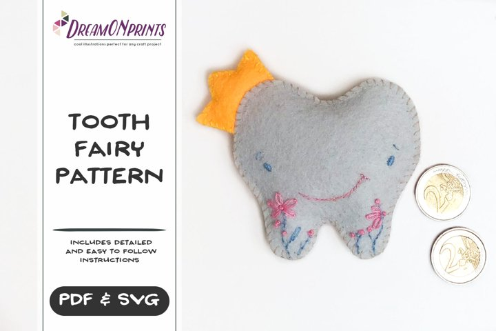 Tooth Fairy Sewing Pattern | PDF Pattern | SVG files