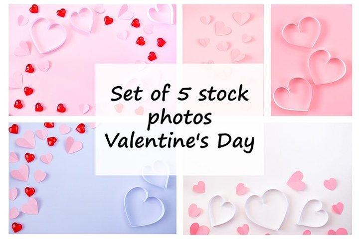 Set of 5 stock photos. Valentines Day.