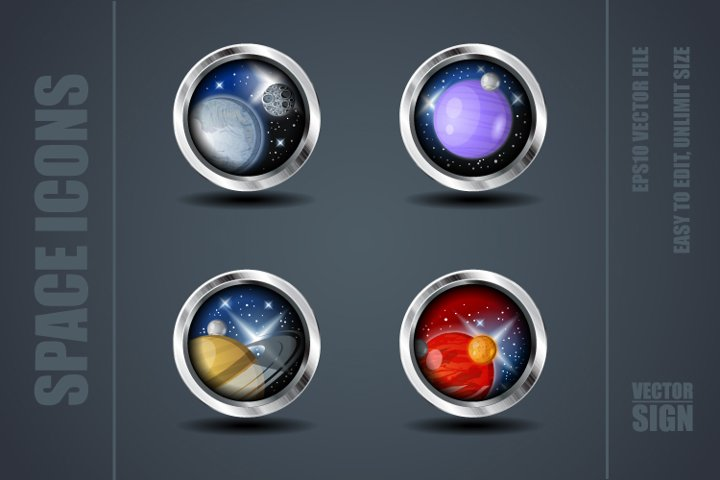 Space Games Icons