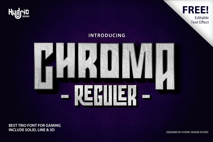Chroma - Trio Gaming Font
