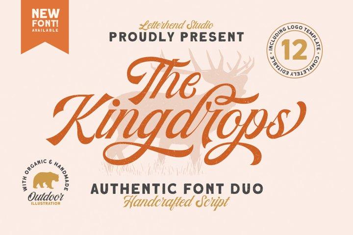The Kingdrops - Font Duo   Logos