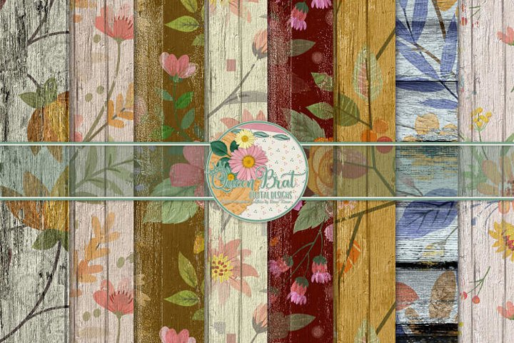 Floral Wood Papers 3