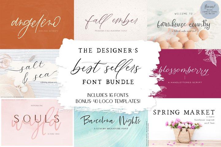 The Designers Best Sellers Font Bundle