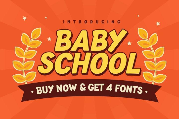 Baby School Font Display