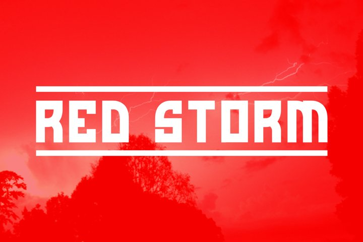 Red Storm | Special Designer Font