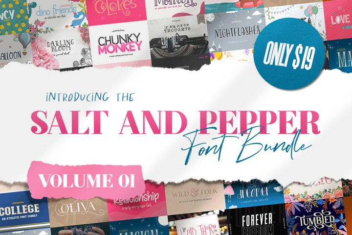 The Salt & Pepper Font Bundle - Volume One