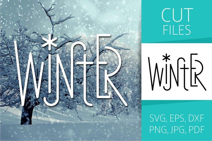 Four Seasons - Winter Word Art | SVG Cut file | Vector EPS