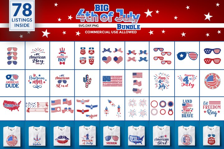 4th of july svg bundle.