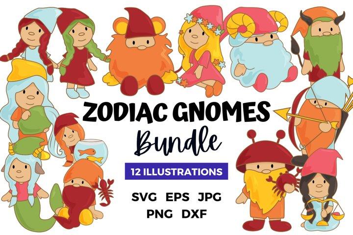 Zodiac Gnomes Sublimation Bundle   Gnomes Bundle