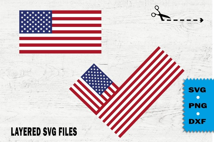American flag svg, check mark SVG, I voted, USA elections