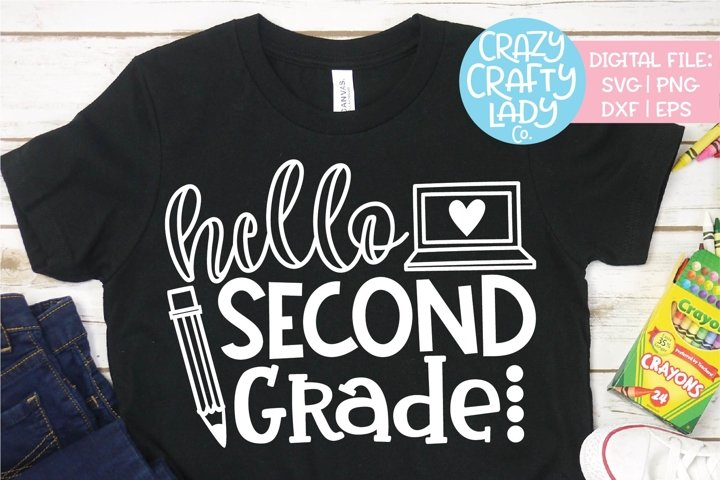 Hello Second Grade SVG DXF EPS PNG Cut File