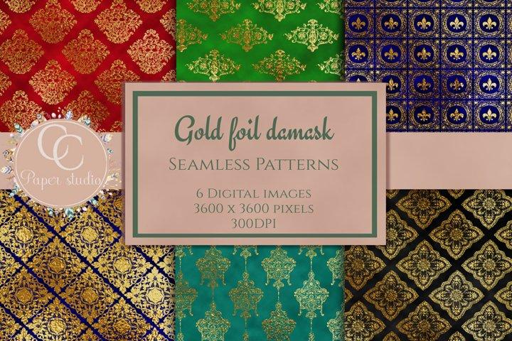 gold damask digital paper pack sample example
