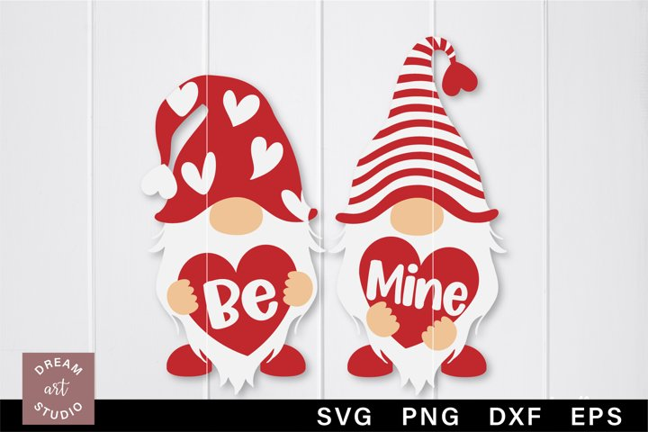 Be mine svg Valentine Gnomes svg png Gnomies svg