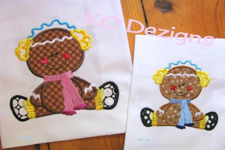 Winter Ginger 03 Machine Applique Embroidery Design