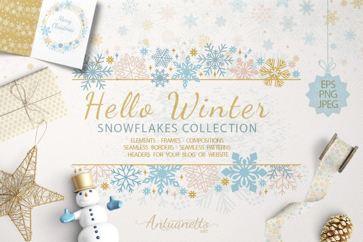Sparkling snowflakes collection
