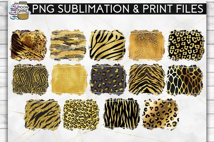 Glam Animal Print Bundle of 42 Sublimation Background PNG example 2