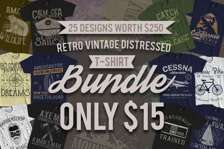25 Retro Vintage T-Shirt Designs