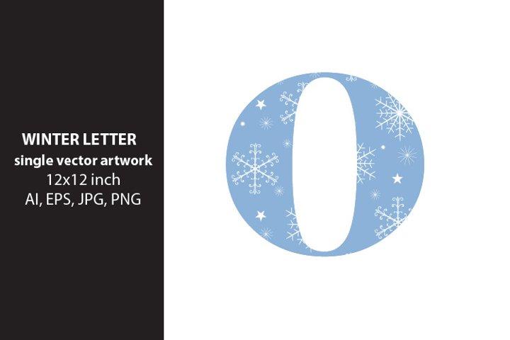 winter, monogram letter o