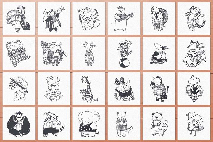 100 Hand Drawn Elements -Animals- example 3