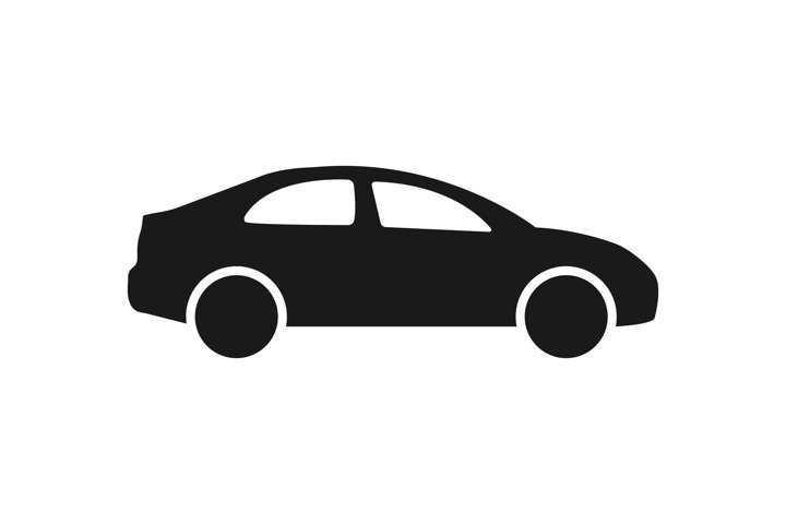 Car icon in simple style