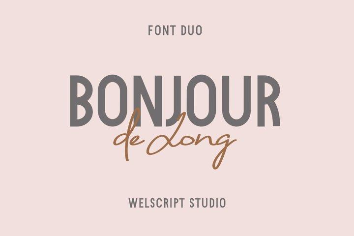 Bonjour de Jong - Font Duo
