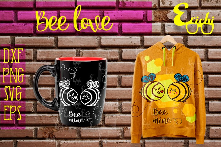 Bee Love / SVG DXF EPS PNG
