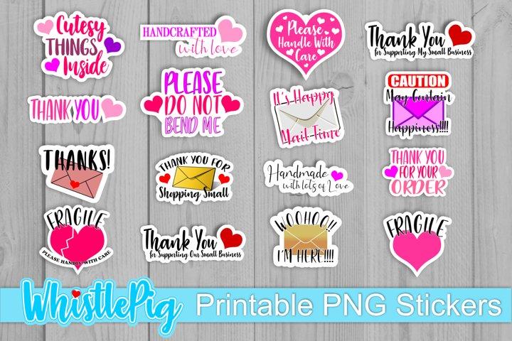 Handmade Small Business Sticker Bundle Printable Thank You