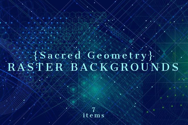 {Sacred Geometry} Raster Backgrounds