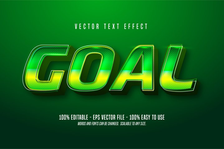 Goal editable text effect