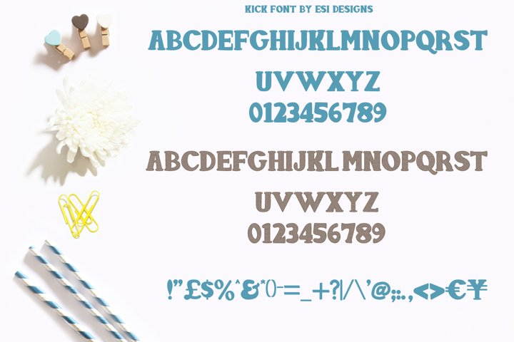 Kick Font - Solid and Chevron - Free Font of The Week Design0
