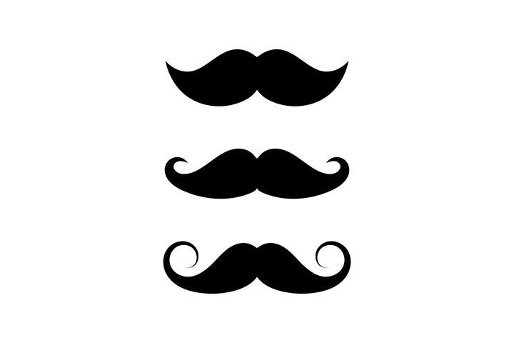 Mustache set of three styles. Mustache sign symbol