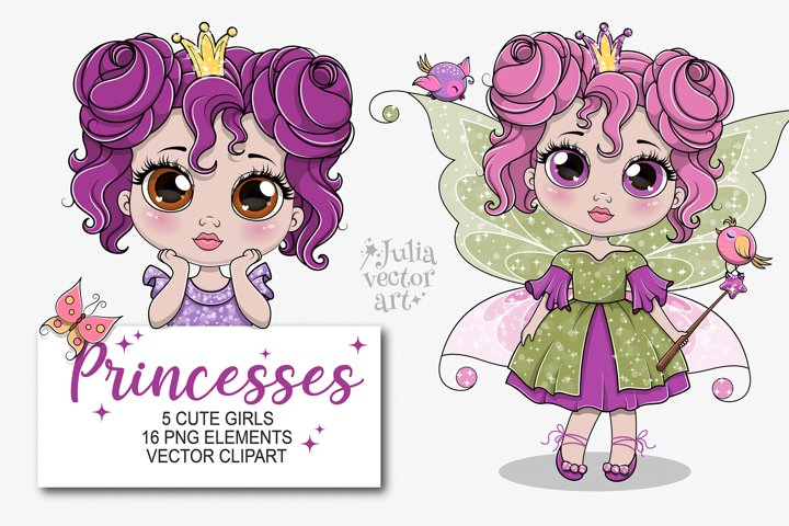 My little Princess - vector clipart set