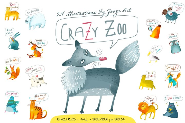 Crazy Zoo - animals illustrations