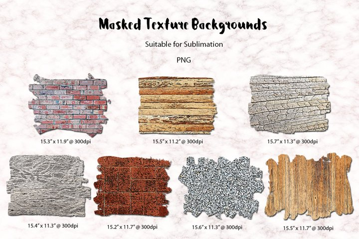 Masked Texture Backgrounds |Sublimation