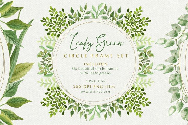 Leafy Green Circle Frame Set