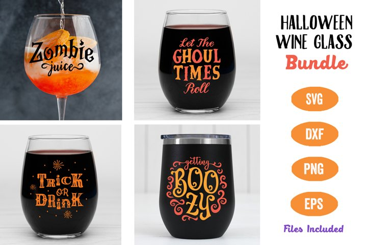 Halloween Wine Glass SVG Bundle, Halloween Party, Wine SVG