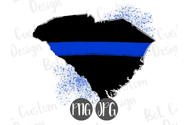Thin Blue Line South Carolina Clipart