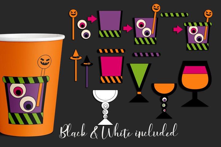 Halloween illustrations - DIY cocktail drinks