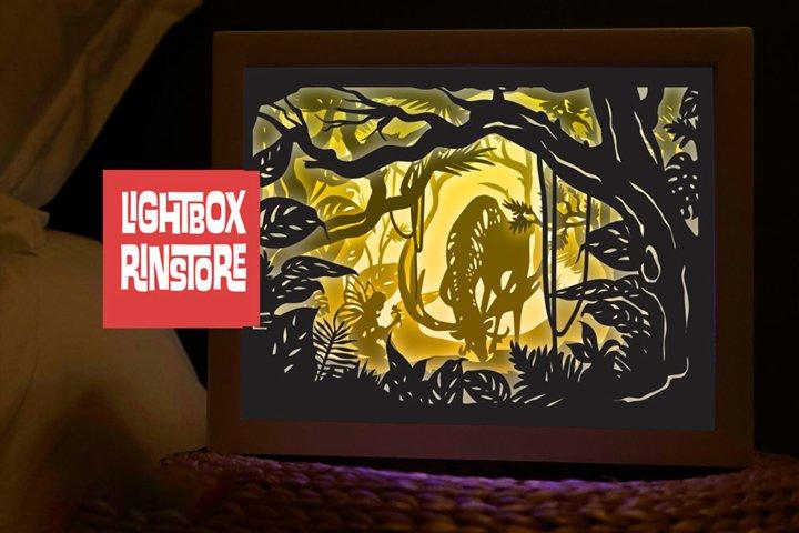 #75 Deer Spirit, 3D Shadow box paper cut lightbox
