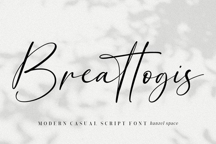 Breattogis // Modern Script Font