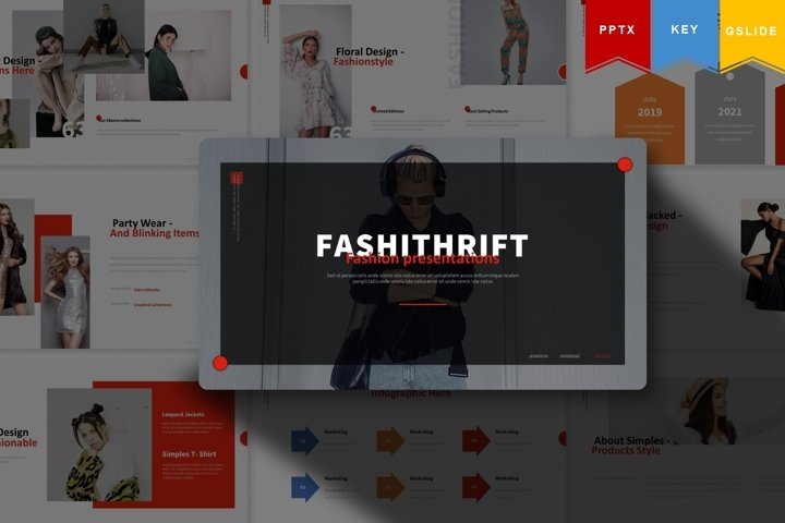 Fashithrift | Powerpoint, Keynote, Google Slides Template
