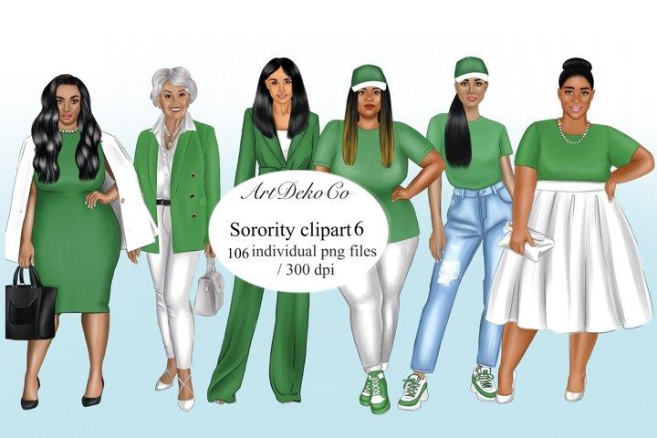 Sisterhood clipart, Sorority clipart, Afro girls clipart