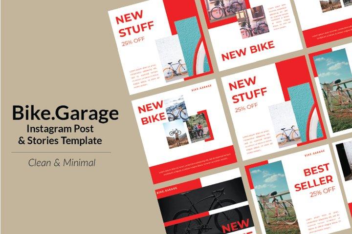 Bike Garage Instagram Template & Instagram Stories
