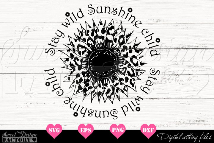 Sunflower leopard print Svg
