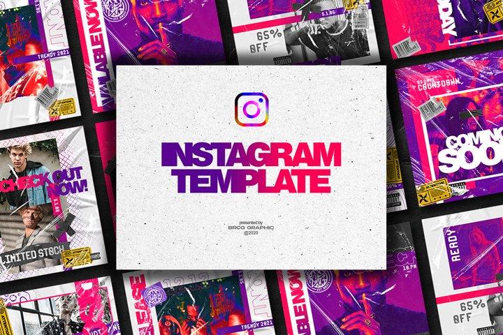 Pinkyple Instagram Template