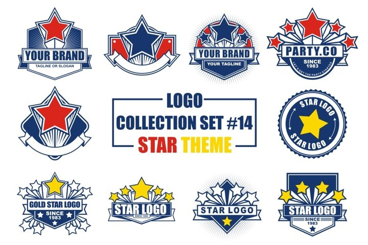 Logo Collection Set with Star Theme