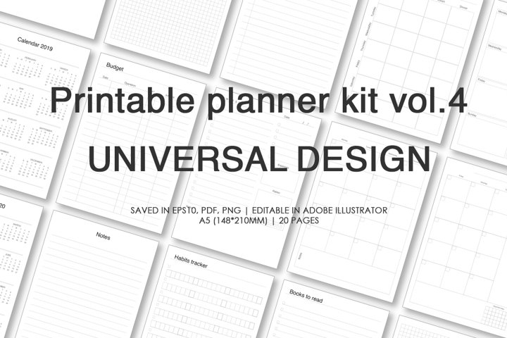 Planner kit vol.4. Universal design